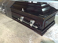 Гроб - саркофаг 4-е грани (цвет вишня) сайт:  Orfey1.com