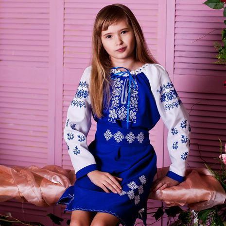 0cd91873bf26e1 Вишитий костюм-плаття Виноград (2-11років габардин), фото 1