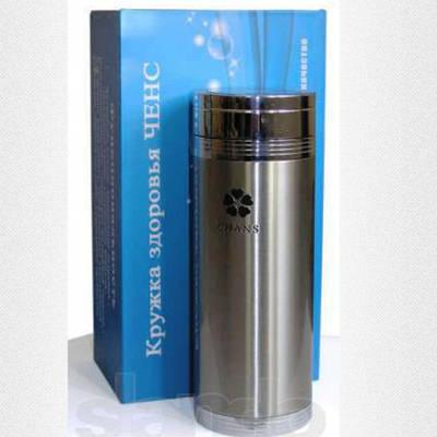 Турмалиновый стакан с магнитом для структурирования воды (нержавейка)