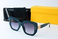 Солнцезащитные очки Fendi квадратные синие, фото 1