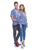 Вышиванки для влюбленных из льна в стиле джинс