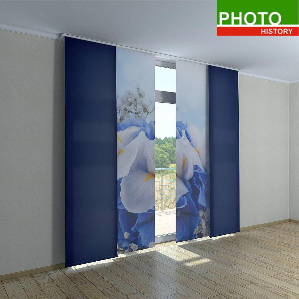 Японские фото шторы нежные тона