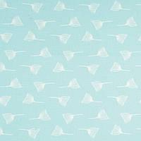 ✁ Отрез хлопковой ткани Одуванчики на пудровом мятном 100х80 см, фото 1