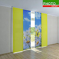 Японские фотошторы поляна ромашек