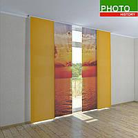 Японские шторы с печатью закат