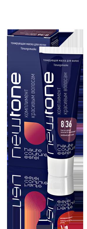 Тонуюча маска для волосся 8/36 (cвітло-русявий золотисто-фіолетовий) Estel Haute Couture Newtone, 60 мл