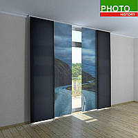 Японские фото шторы дорога в горах
