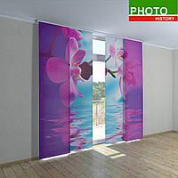 Японские шторы розовая орхидея