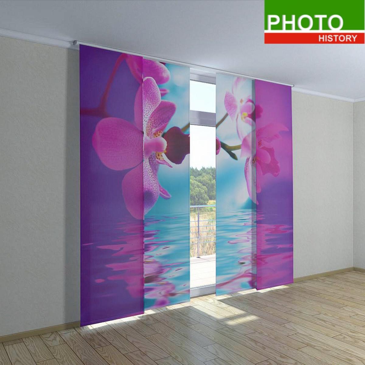 Японские шторы розовая орхидея - Интернет-магазин PHOTOHISTORY в Днепре