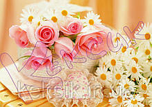 Вафельная картинка Цветы 6