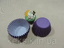 Тарталетки mini цветные 100шт фиолетовые