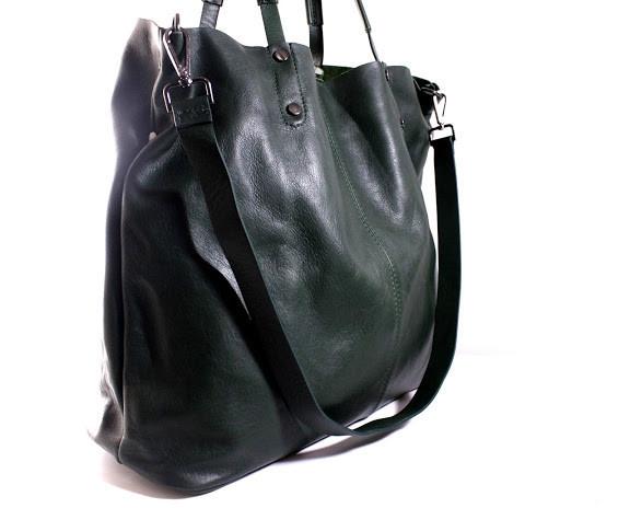 21004f17be8b (Adagio) Итальянская кожаная сумка-шопер BIP0-109 зеленый - Тибериус —  магазин