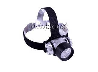 Фонарь налобный 050 на 7 LED, 3 R3/AAA Батарейки, 1 режим освещения, WD219