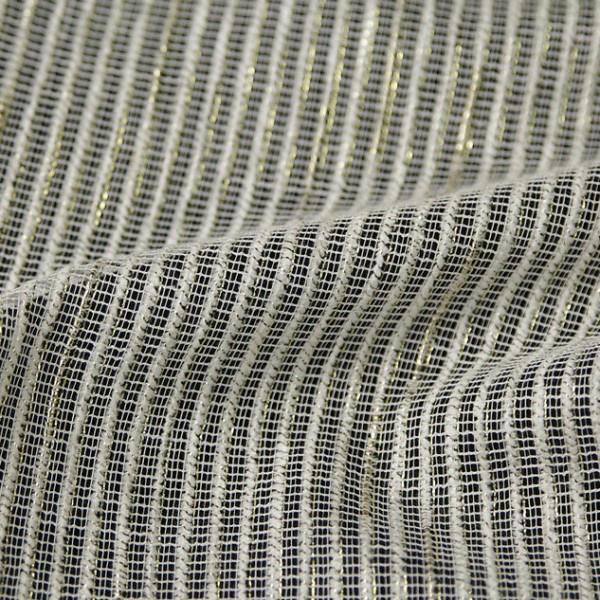 Тюль-сетка с декоративными нитями золотисто-молочный 9716.006-EK001