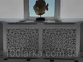 Екрани (короби) декоративні дерев'яні для батарей опалення решітка №18А