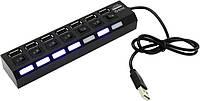 Акция!USB HUB (концентратор) 7 портов с выключателями