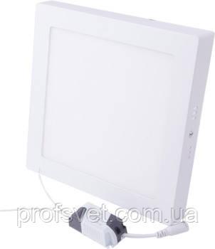 Светильник светодиодный 18 вт квадрат накладной