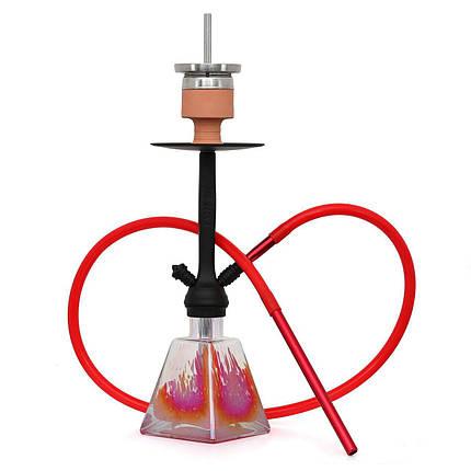Кальян AMY Deluxe 038R I need you висота 55 см на 1 персону червоний, фото 2