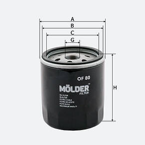Масляный фильтр Molder OF 80, фото 2