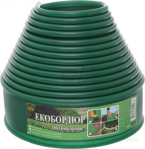 """Садовый бордюр """"Екобордюр"""" тип2  економ (10м) зелёный"""