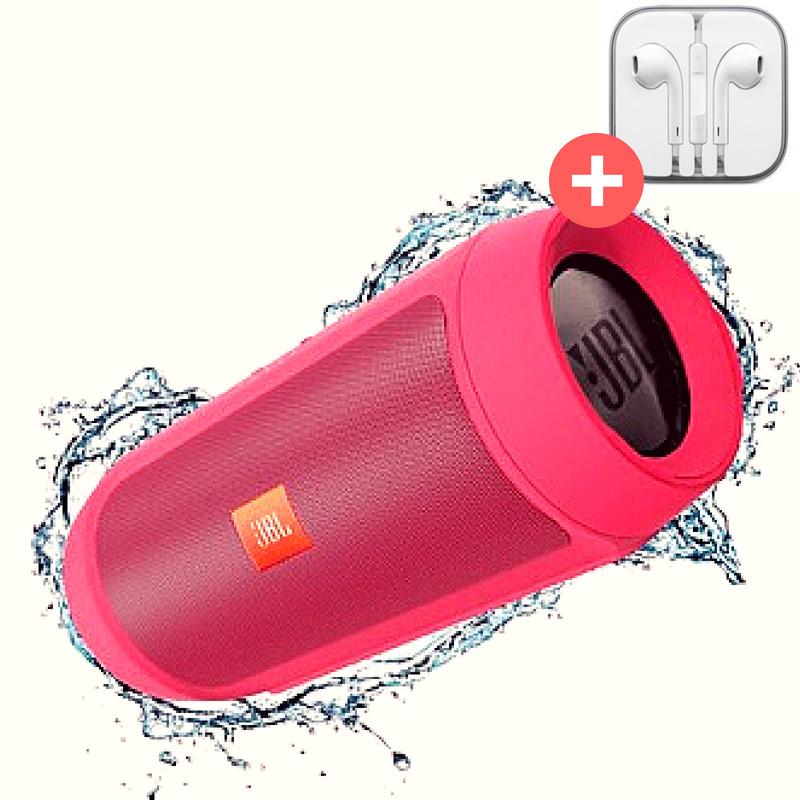 Портативная Bluetooth колонка JBL Charge 2+. Красная Quality Replica. Red