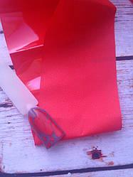 Фольга переводная матовая красная