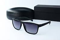 Солнцезащитные очки Morel прямоугольные черные с серым
