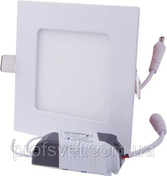 Светильник светодиодный 6 вт квадрат встраиваемый