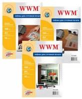 Пленка WWM самоклеящаяся прозрачная для струйной печати, 150 мкм.,  А4, 10л