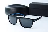 Солнцезащитные очки Morel прямоугольные черные с синим