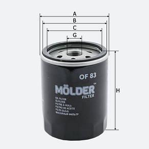 Масляный фильтр Molder OF 83, фото 2