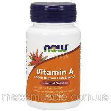Витамины NOW Foods Vitamin A 10000IU 100 softgels