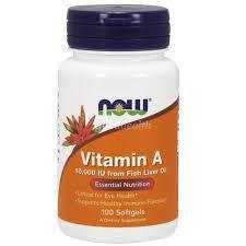 Витамины NOW Foods Vitamin A 10000IU 100 softgels