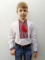 Вышиванка для мальчика Данило с красной вышивкой
