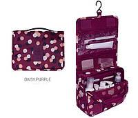 Дорожная сумка-органайзер для косметики Toiletry Pouch бордовый
