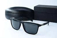 Солнцезащитные очки Morel прямоугольные черные, фото 1