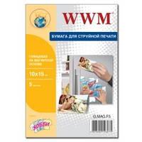 Фотобумага магнитная WWM, глянцевая, 100х150 мм, 5л