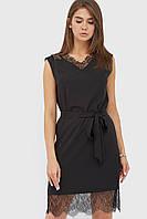 Вискозное платье с кружевными оборками (Oriens crd)