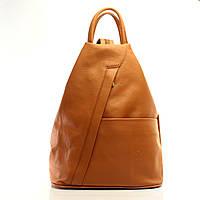 Сумки для девушек Сумка-ранец Италия кожаные через плечо