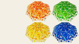 """Зонт """"Осень"""", высота 73 см, диаметр раскрытия - 95 см, прозрачная клеенка"""