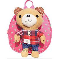 Рюкзак детский. Мишутка розовый.