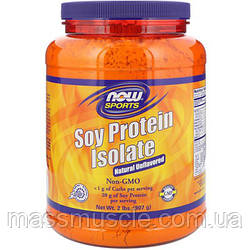 Протеїн NOW Foods Soy Protein Isolate Natural 907 g