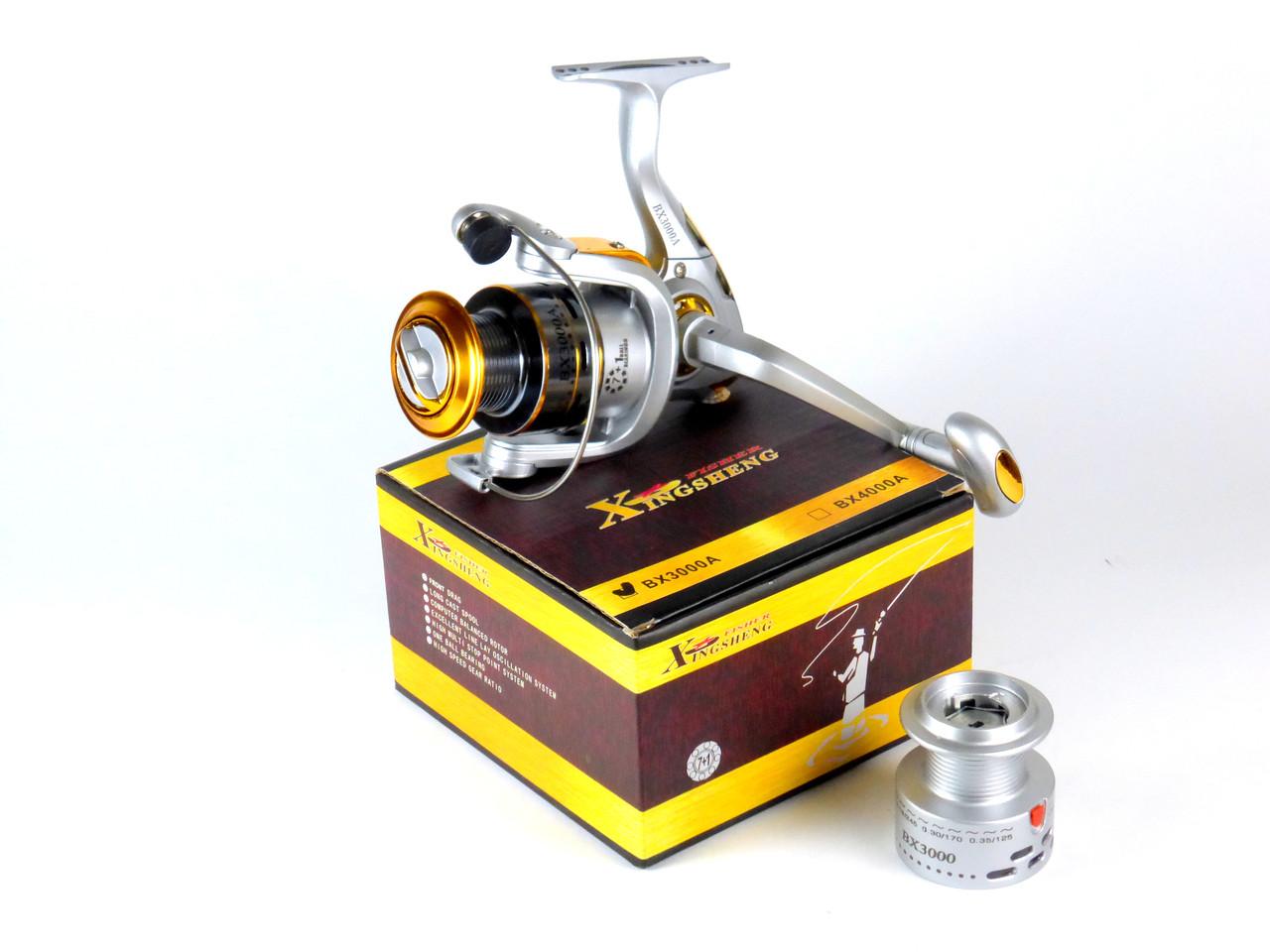 Безынерционная катушка Xing Sheng BX 3000A 7+1bb для спиннинга, катушка рыболовная на щуку (на хищника)