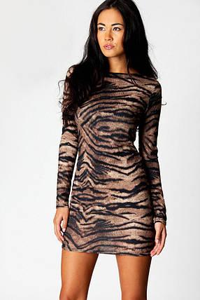 Новое платье в звериный принт Boohoo, фото 2