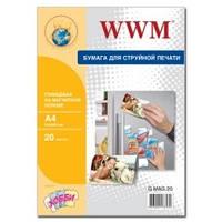 Фотобумага магнитная WWM, глянцевая, A4, 20л