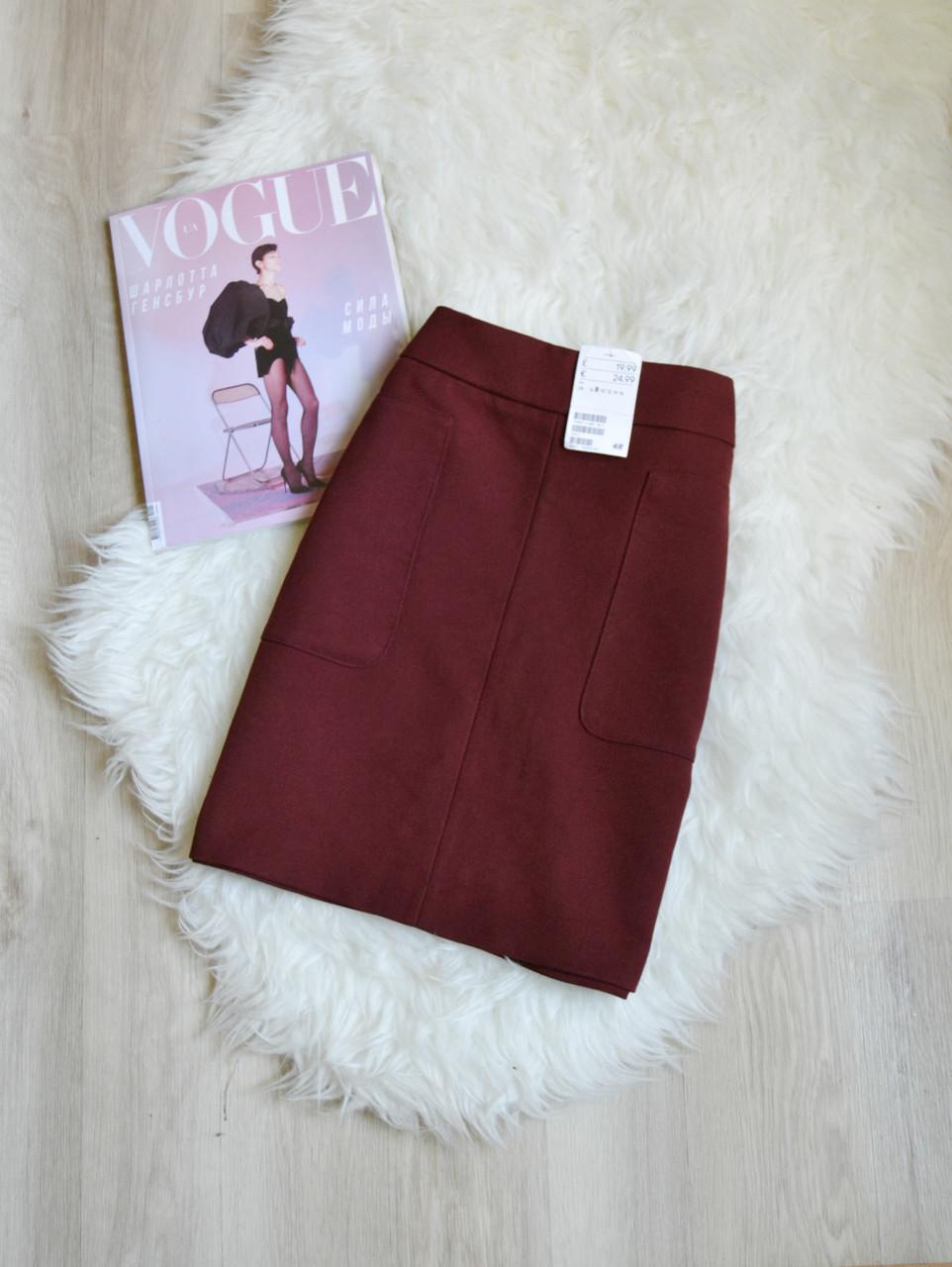 Новая короткая юбка с карманами H&M