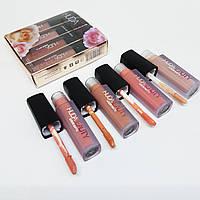 Набор жидких мини-помад Huda Beauty (4 шт.) Pink Love Collection #B/E