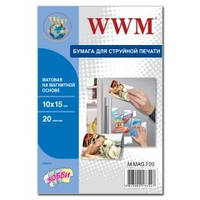 Фотобумага WWM, матовая Magnetic, 100х150 мм, 20 л