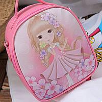 Сумка - рюкзак детская. Розовая.