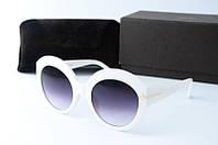 Солнцезащитные очки Tоm Ford круглые белые, фото 1
